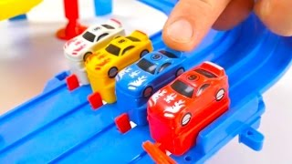 Who will be CHAMPION? - Dino Dinosaur Racing Car Track Challenge! Toy Cars Video.