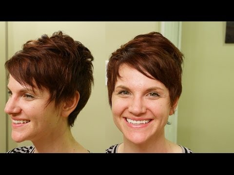 Shannyn Sossamon inspired Haircut // Short Textured Haircut Tutorial