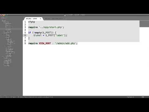 Learn PHP: Basic CMS - Adding Pages (Part 6/8)