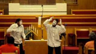 "Miming to ""Blessed like that"" by: Jimmy Hicks"