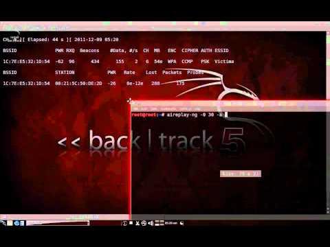 Посмотреть ролик - Backtrack 5 - WIFI Attack WPA2.
