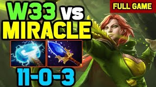 OMG! Miracle totally outplayed and destroyed by w33 Signature Windranger in Solo Ranked