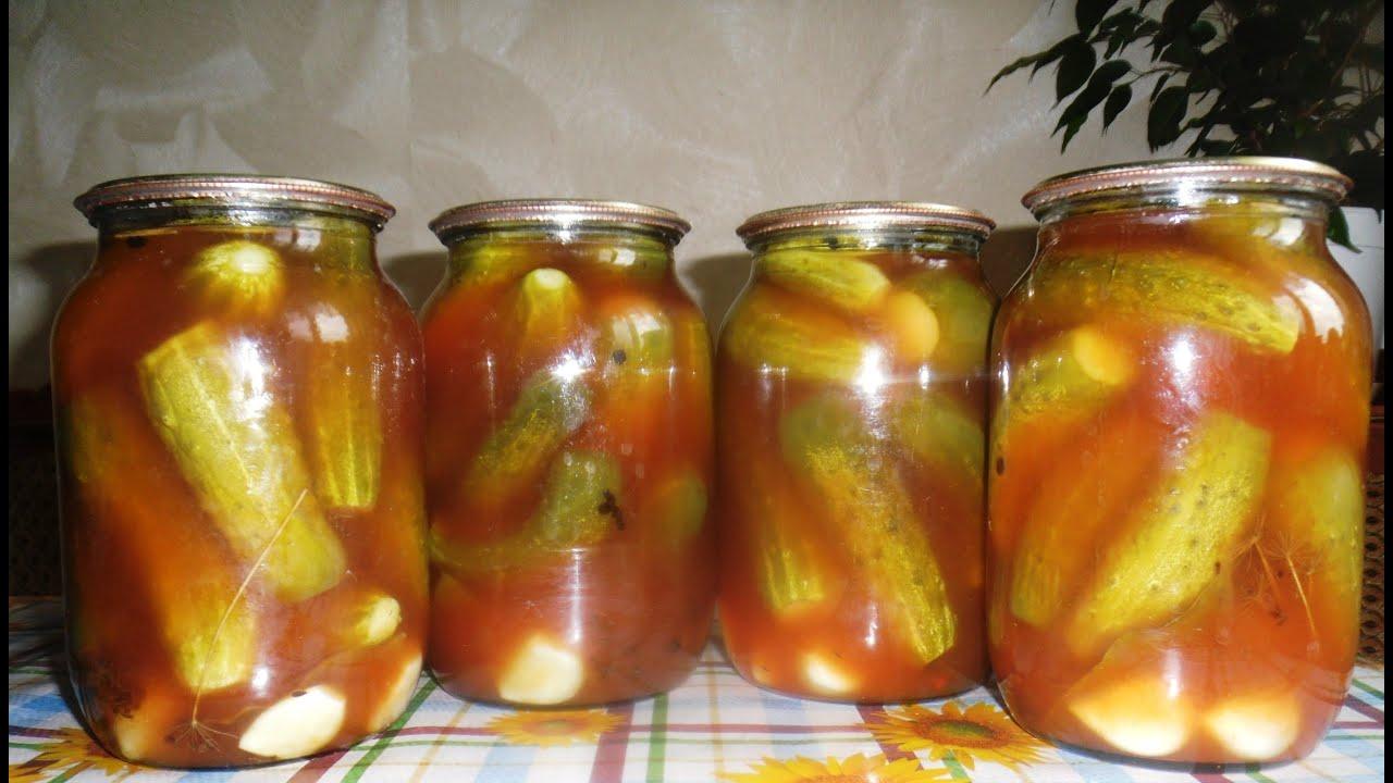 Как сделать огурцы в томатном соусе на  998