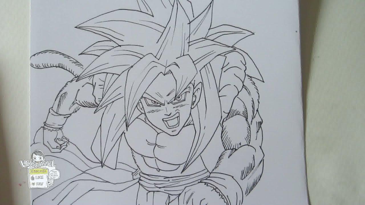Drawing Gogeta Ssj4 ms Paint Drawing Gogeta Ssj4 ゴジータ