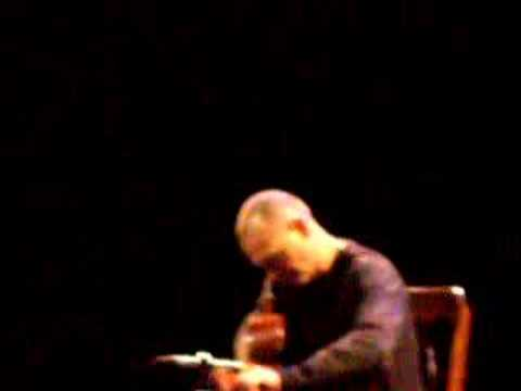 Ottmar Liebert tunes guitar (Live at IMAC, 12-1-06)