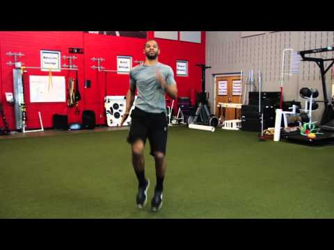 What Is That Football Exercise When You Run in Place? : Youth Fitness