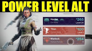 Destiny 2 - How to Power Level An Alternate Character (Tips & Tricks for 2nd/3rd Characters)