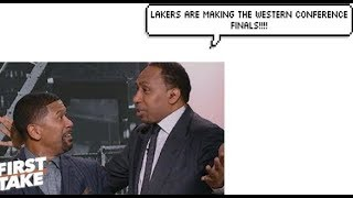 Stephen A. Smith wrong lakers prediction compilation