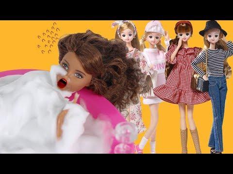 예쁘게하고 나오라고? 어떤옷을 입고 남자친구 켄을 만나러갈까요? 옷잘입는방법 재미있는 인형드라마 장난감개봉 어린이채널♡모모TV