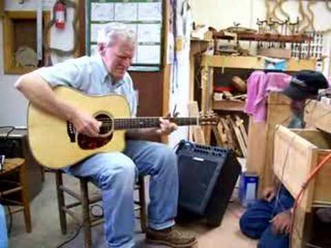 Doc Watson playing Wayne Henderson guitar