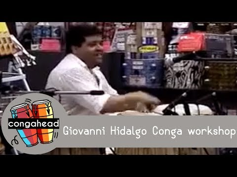 Giovanni Hidalgo conga workshop Video