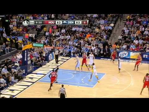 Rockets vs Nuggets | Lin ( 22 PTS ) + Team Highlights (1-30-2013)