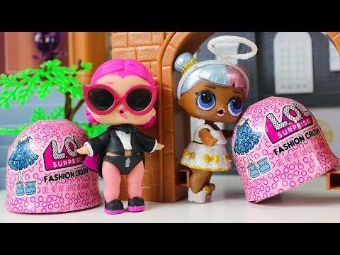 #ЛОЛ Одевалки Куклы ЛОЛ Распаковка Мультик Игрушки для детей LOL Surprise FASHION CRUSH