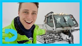 Grooming STEEP SLOPES with a WINCH-CAT GROOMER at Fernie Alpine Resort, BC