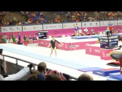 Hannah WHELAN GBR, Vault Senior Qualification, European Gymnastics Championships 2012