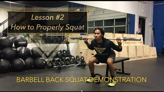 How to Squat - Lesson #2 - Empyrea Group Training