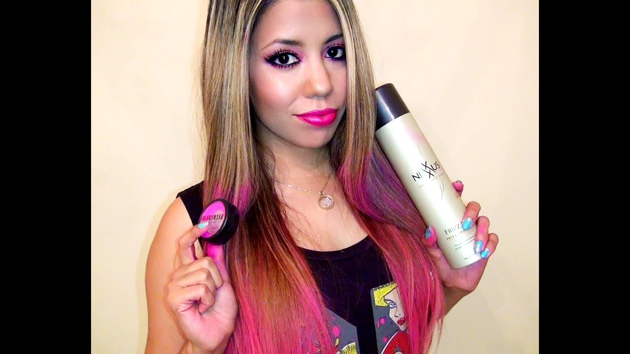 How To Use A Hair Shadow Pink Hair YouTube
