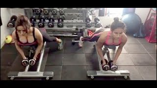 Neha Sharma Hot Gym Workout In Skinny Fit Outfit 2018 HD