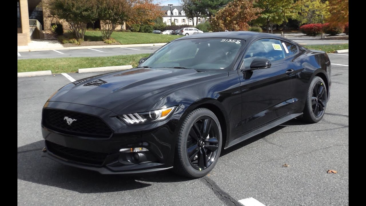2015 ford mustang ecoboost black 2016 2015 ford mustang ecoboost black