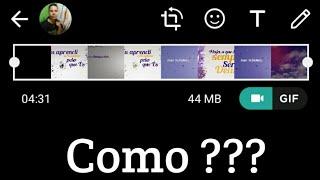 Como Colocar Mais De 4 Minutos De Status No Whatsapp !!