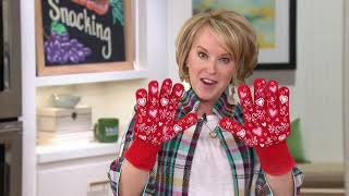Temp-tations Oven Safe Gloves with Silicone Accents on QVC
