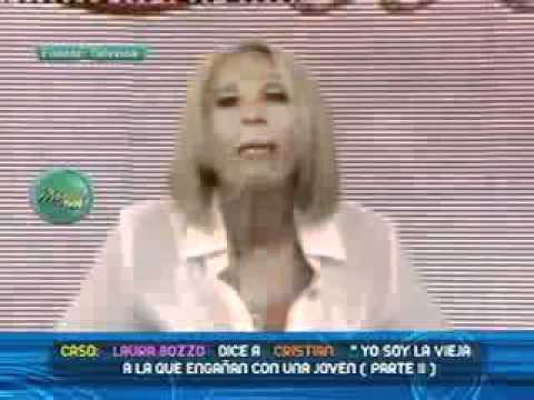 Laura Bozzo le pide disculpas a su pareja Cristian Zuarez por el mal entendido 07/04/2011