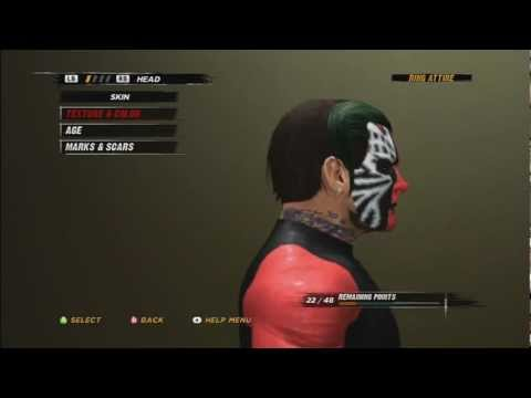WWE ´12 - How To Make Jeff Hardy (With TNA Facepaint) Tutorial With Voice HD