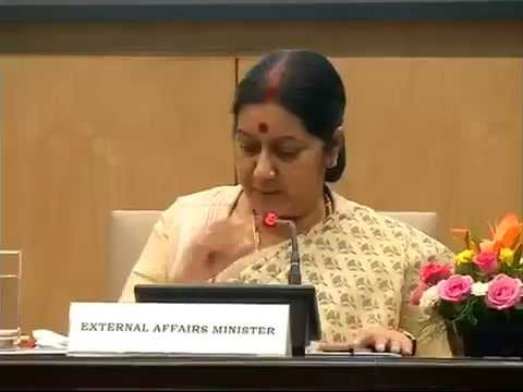 Press conference by Smt. Sushma Swaraj   on one year of the NDA ovt. in New Delhi:  31.05.2015