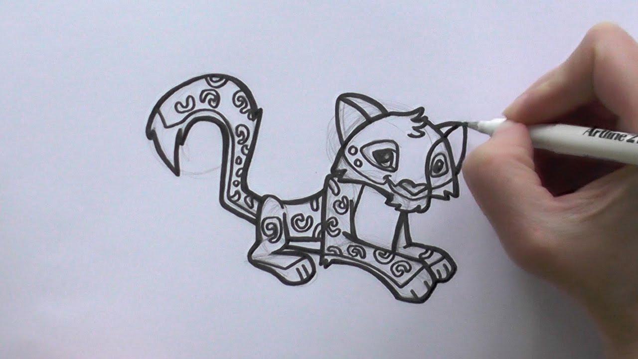 Animal Jam Tiger Drawings How to Draw a Cartoon Snow