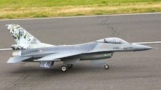 GIANT RC JET F-16 FALCON RC MODEL SCALE TURBINE / Jet Power Fair 2016