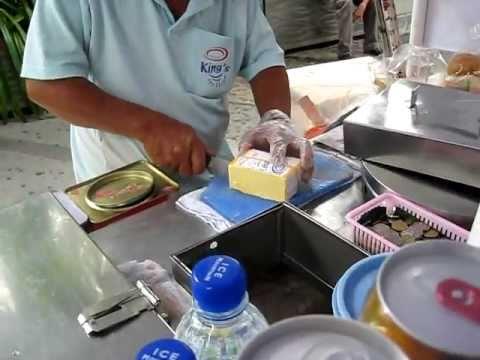 Ice Cream Sandwich (with bread!) Vendor In Singapore