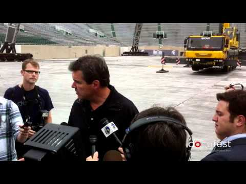 Press Conference:  U2 360 Tour Manager Craig Evans at Spartan Stadium