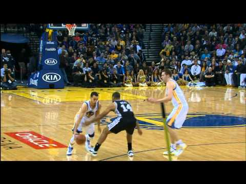 Check out this crazy series of moves Stephen Curry pulls on the defense as he twists & spins to fake out the defender and then nails the open jumper as the c...