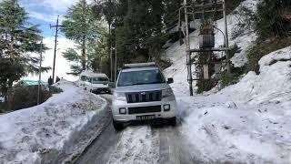 Mahindra tuv 300 suv Drive on snow Dalhousie winters ROADTRIP #roadtrip #tuv300 tuv300 #drive #snow