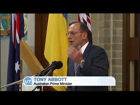 Ukraine President Poroshenko Visits Australia: PM Abbott has been an outspoken critic of Putin