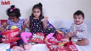 Pre School Toddler Learn Colors Through Fun Ishfi & Rufi got lots of Candies to review