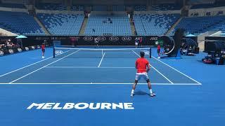 Novak Djokovic v Andy Murray 2019 AO practice (HD)