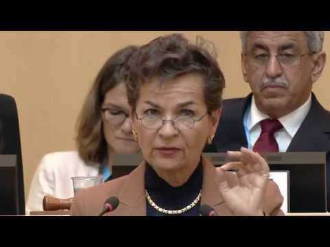WHO: WHA 69 -  Christiana Figueres, invited speaker to the World Health Assembly