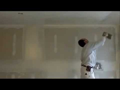 Learn how to Skim Ceilings with drywall mud.Drywall Lessons . #19