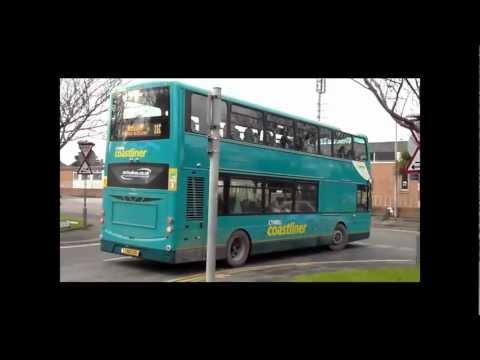 Buses & Trains in North Wales February 2012 - First Day of Cymru Coastliner Gemini2's.