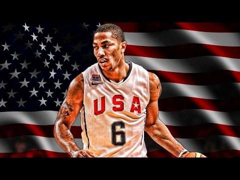 NBA Fiba World Cup Practice - Derrick Rose Playing