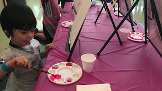 Play and paint at children's Museum of tacoma Wa