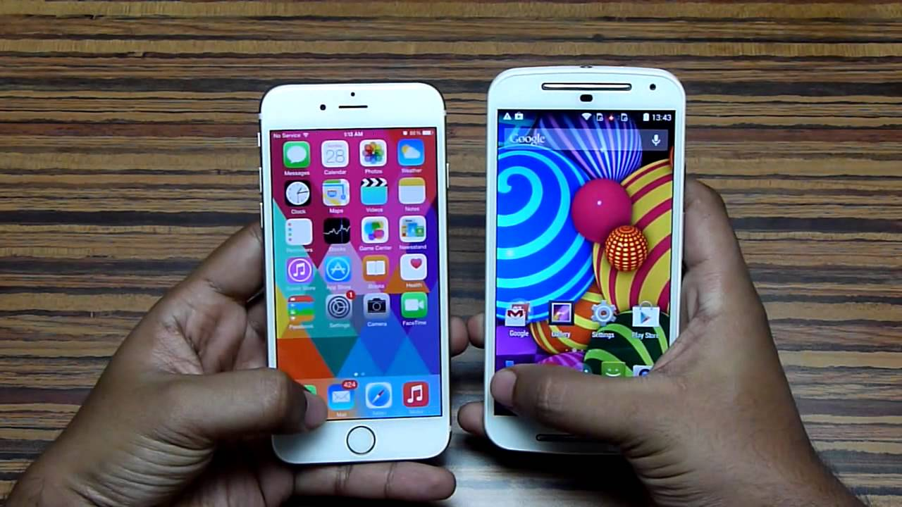 Iphone 1st Gen vs Iphone 6 Moto g 2nd Gen vs Iphone 6
