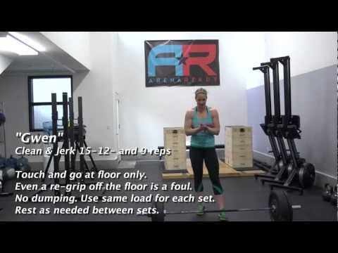 CrossFit - WOD 130129 Demo with Sarah Hopping