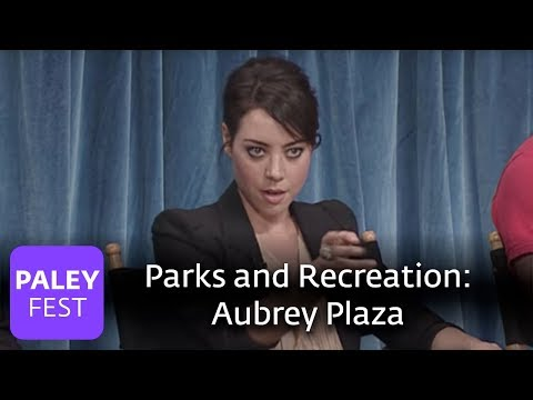 Parks and Recreation - Aubrey Plaza Stares Down Joe Biden