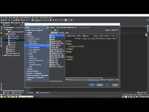 Настройка PyCharm - редактирование шаблонов новых файлов