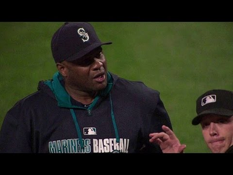 8/7/14: Lloyd McClendon showcases his feelings to the umpires on Kendrys Morales getting hit by a pitch and gets ejected from the ballgame Check out http://m.mlb.com/video for our full archive...