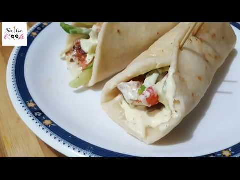 CHICKEN SHAWARMA ( PITA SANDWICH ) step by step recipe by (YES I CAN COOK)