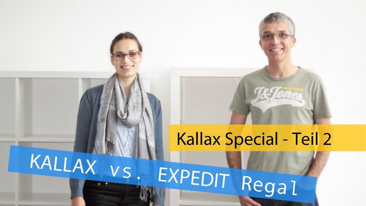 kallax regal spezial teil 2 unterschiede zum expedit regal youtube. Black Bedroom Furniture Sets. Home Design Ideas