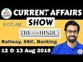 8:00 AM - CURRENT AFFAIRS SHOW 12 & 13 Aug | RRB ALP/Group D, SBI Clerk, IBPS, SSC, UP Police thumbnail